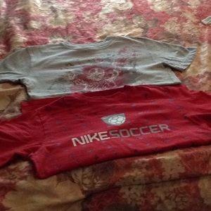 2 pack kids medium brand name sport tshirts